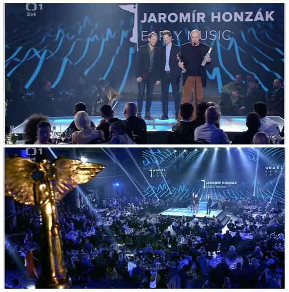Jaromír Honzák, Luboš Soukup a Martin Novák at Czech Music Award Ceremony Andel 2017
